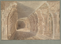 Entrance to the Temple, Rameswaram. Drawn by W.G.P. Jenkins, William W. Whelpdale and Ravanat Naik